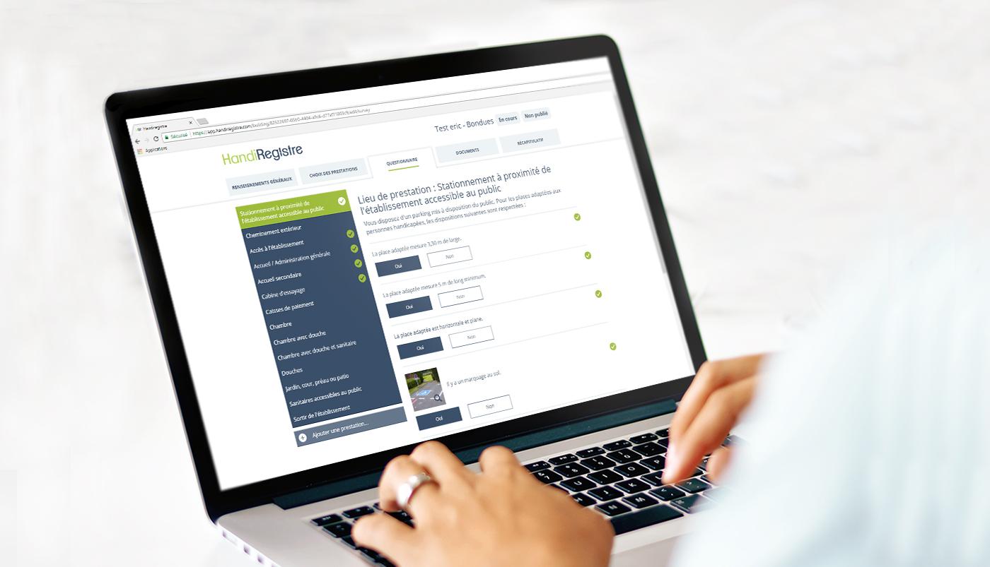 Registre d'accessibilité en ligne