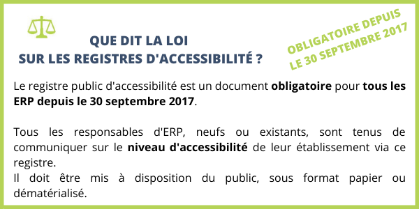 Loi registre d'accessibilité